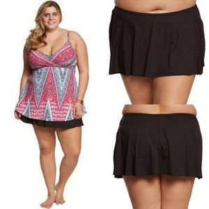 Kenneth Cole Reaction Flyaway Skirted Bikini Botto